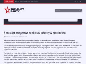 A socialist perspective on the sex industry and prostitution