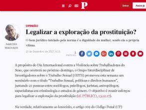 Legalizar a exploração da prostituição?