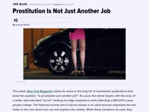 Prostituion is Not Just Another Job